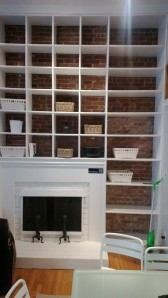fireplace + built-ins