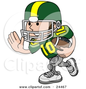 24467-Clipart-Illustration-Of-A-Football-Player-Athlete-In-A-Green-And-Yellow-Uniform-Running-With-The-Ball-In-Hand