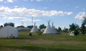 Teepees: Sleep in a circle of hippies, awesome.