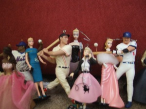Look at all those MLB players & Barbies!
