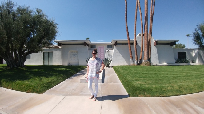 That Famous Pink Door On A Lovely Mid-Century Modern Home In Palm Springs